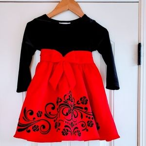 Rare Editions Black and Red Formal Dress 3T